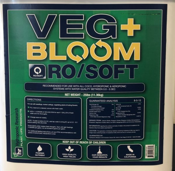 VEG+BLOOM RO/SOFT 25lbs